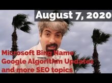 Daily Search Forum Recap: August 7, 2020