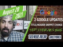 Daily Search Forum Recap: August 23, 2021